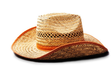 Straw hat.Men's hats