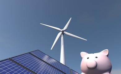 Besparen op duurzame energie