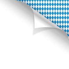 Oktoberfest Hintergrund Muster Zettel gerollt oben rechts