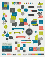 Collections of infographics flat design template.
