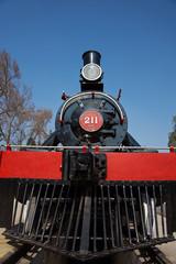 Historic steam train in Santiago, Chile
