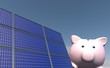 canvas print picture - Besparen met zonne energie