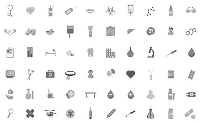 Set of vector icons on medical subjects
