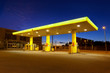 Empty gas station with blue night sky in Finland - 69856412