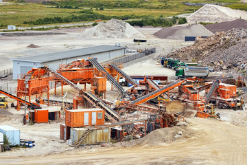 Quarry crusher plant in sand and gravel procuction