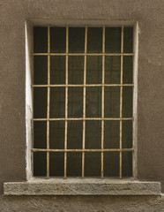 Window Made of Iron Bar in a old country