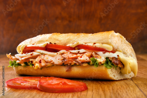 Aluminium Snack Smoked salmon submarine sandwich