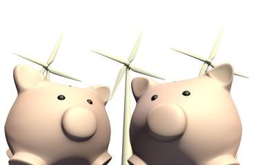 Besparen met wind energie