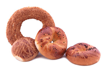 Turkish bagels. ( Simit, acma and pogaca)