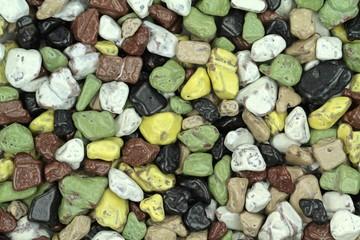 Colorful pebble stones