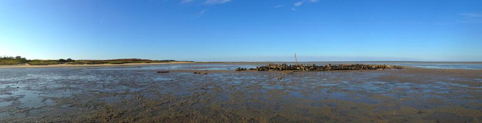 Schiffswrack im Wattenmeer auf Sylt