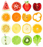 Fototapety Fruit and vegetable slices