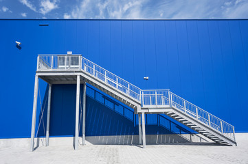 Galvanized Industrial Stairs Fire Escape
