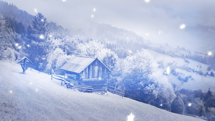 New Year,christmas,3d winter background,time-lapse