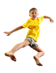 active child exercising and jumping