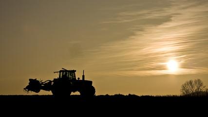 Bauer auf  dem Feld