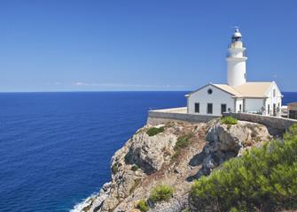 Cap de Capdepera Lighthouse. Mallorca island, Spain