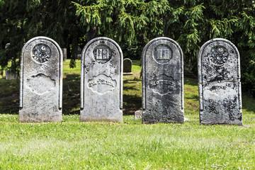 Four Antique Gravestones