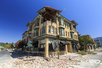 The power of earthquake, Napa Valley