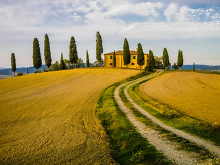 Typical farm in tuscan landscape, Italy