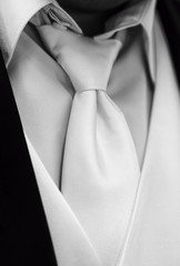 Classic Grooms Tie in Black and White