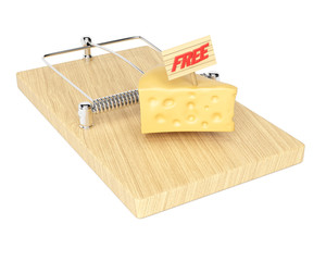 Mousetrap with free cheese