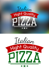 Italian pizza label or banner