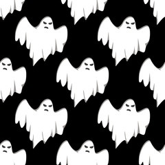 Ghost Halloween seamless pattern