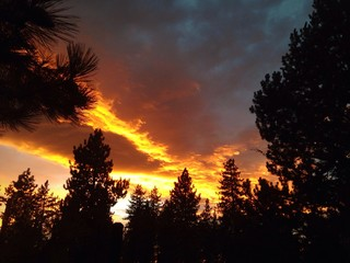 Beautiful sunset over Lake Tahoe.