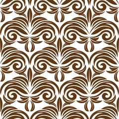 Retro brown floral seamless pattern