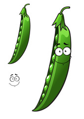 Cartoon pea vegetable