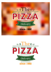 Retro pizza label or banner