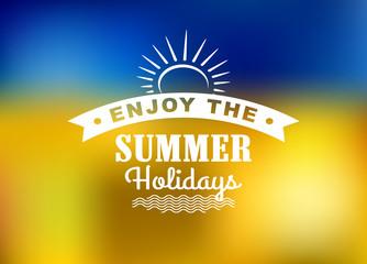 Enjoy Summer Holidays poster