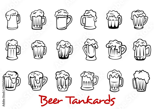 Beer tankards set - 69861448
