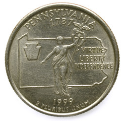 1999 Pennsylvania State Quarter Virtue Liberty Independence