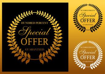 Special offer label or emblem