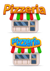Cartoon pizzeria icon