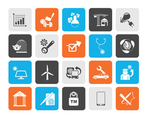 Silhouette Internet and Website Portal icons