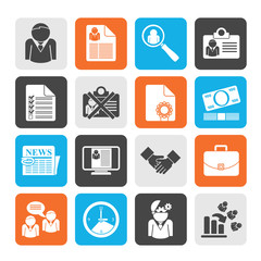Silhouette Employment and jobs icons
