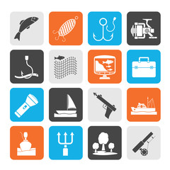 Silhouette Fishing industry icons