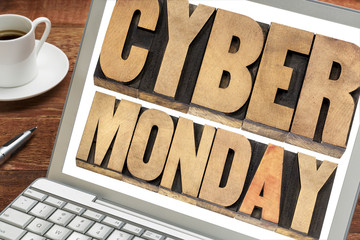 Cyber Monday shopping concept