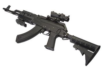 Modern Kalashnikov AK47 with tactical accessories