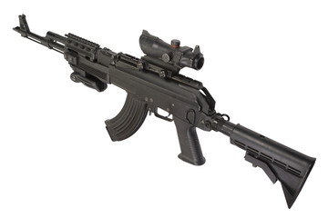 Modern Kalashnikov AK47 with tactical accessories