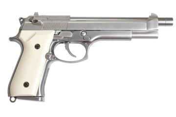 Beretta M9 long gun isolated on white background