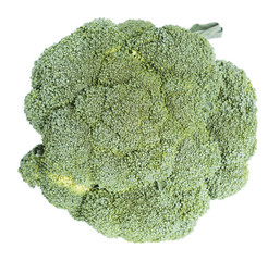 Raw Broccoli over white