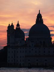 Sunset at the Madonna della Salute Church, Venice
