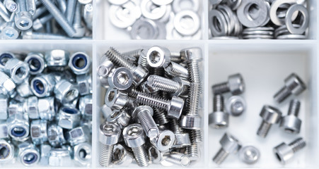 Screws and Machine Parts in a box