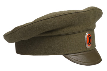 Imperial Russian Army cap isolated on white background