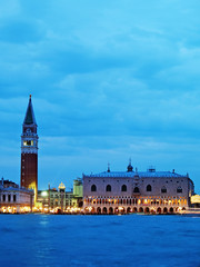 Venice, sunset on St. Mark square