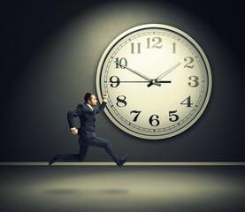 running man and big white clock